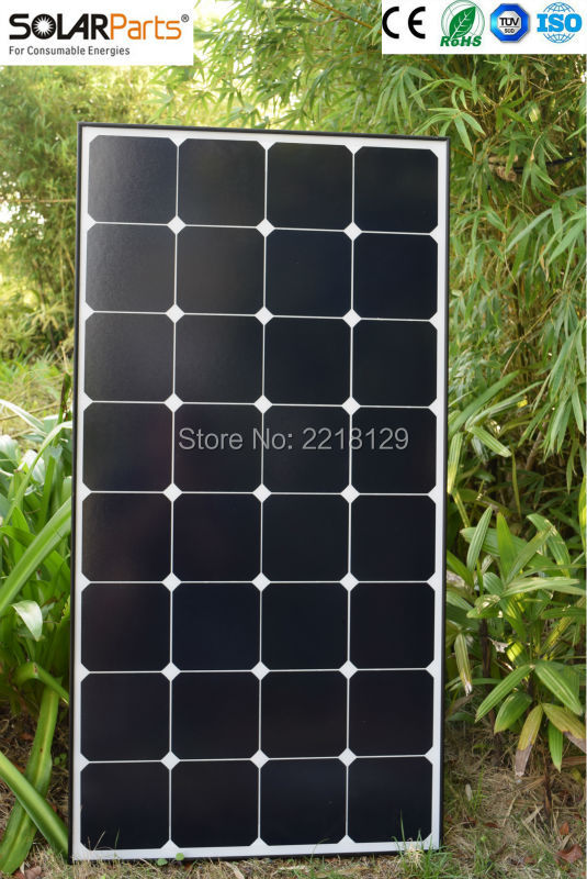 Solarparts 2x 100W Glass Solid Mono Solar Module cell kit system panel high efficiency 12v Solar Off Grid Camp Car Marine USA dc house usa uk stock 300w off grid solar system kits new 100w solar module 12v home 20a controller 1000w inverter