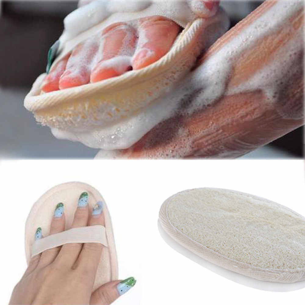 New Natural Loofah Bath Shower Sponge Body Scrubber Exfoliator Washing Pad bathroom accessories 15 x 10 cm Lightweight, Durable