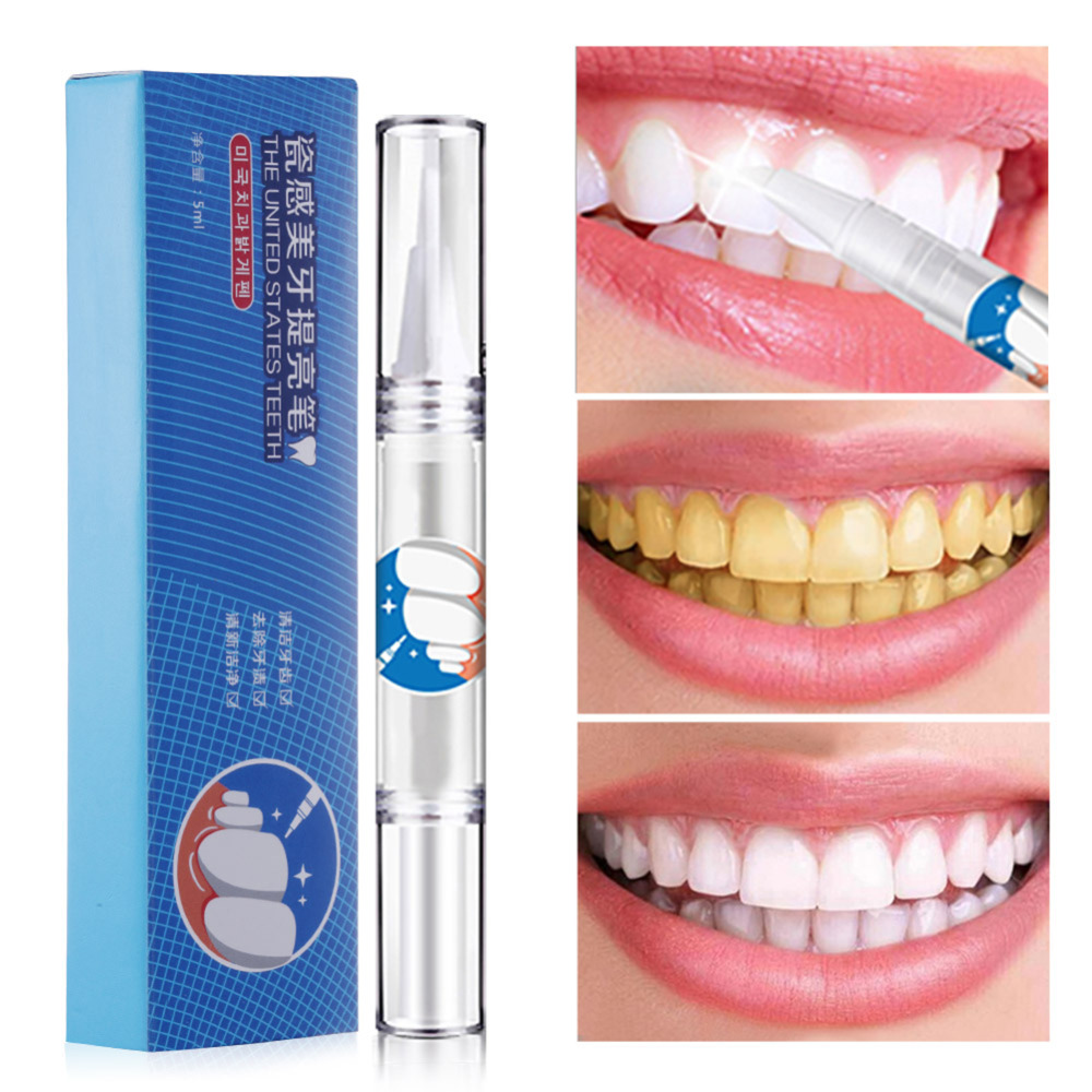 5ml Tooth Care Brightening Pen Remove Stain Yellow Tooth Cigarette Strains Porcelain Whitening Brighten Teeth Gel Pen