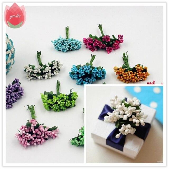 2017 12 stks Berry Kunstmatige Meeldraden Handgemaakte Bloem Voor Bruiloft Woondecoratie Stamper DIY Scrapbooking Guirlande Craft Fake Bloem