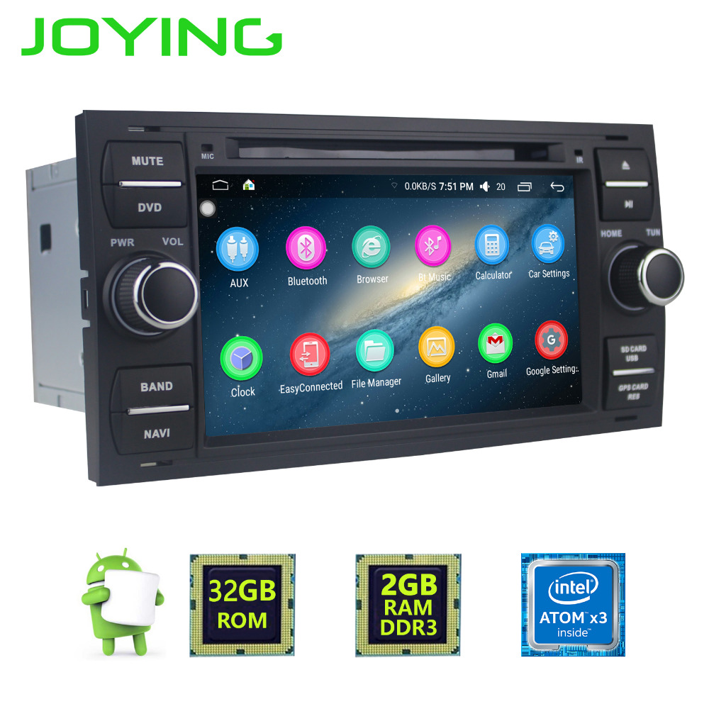 Latest 2 Din 2GB RAM Android 6 0 7 Car Multimedia radio for Mondeo head Unit
