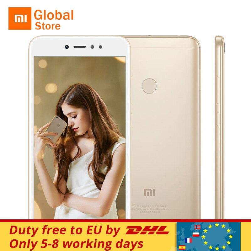 """Оригинальный Xiaomi Redmi Note 5A 5 64 ГБ 4 ГБ Оперативная память мобильного телефона Snapdragon 435 Octa Core 16MP Фронтальная камера 5,5 """"отпечатков пальцев MIUI 9"""