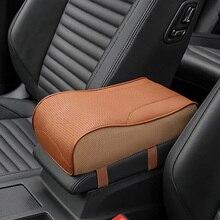 Натуральная кожа автомобиль Подлокотник Чехлы универсальные центральной консоли Авто подлокотники сиденья ящик для хранения подушки защиты рука поддерживает