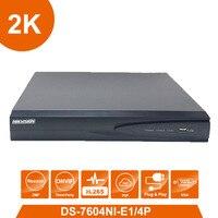 Original Hik Vision English Version DS 7604NI E1 4P 4 POE Ports 4ch Cameras Plug Play