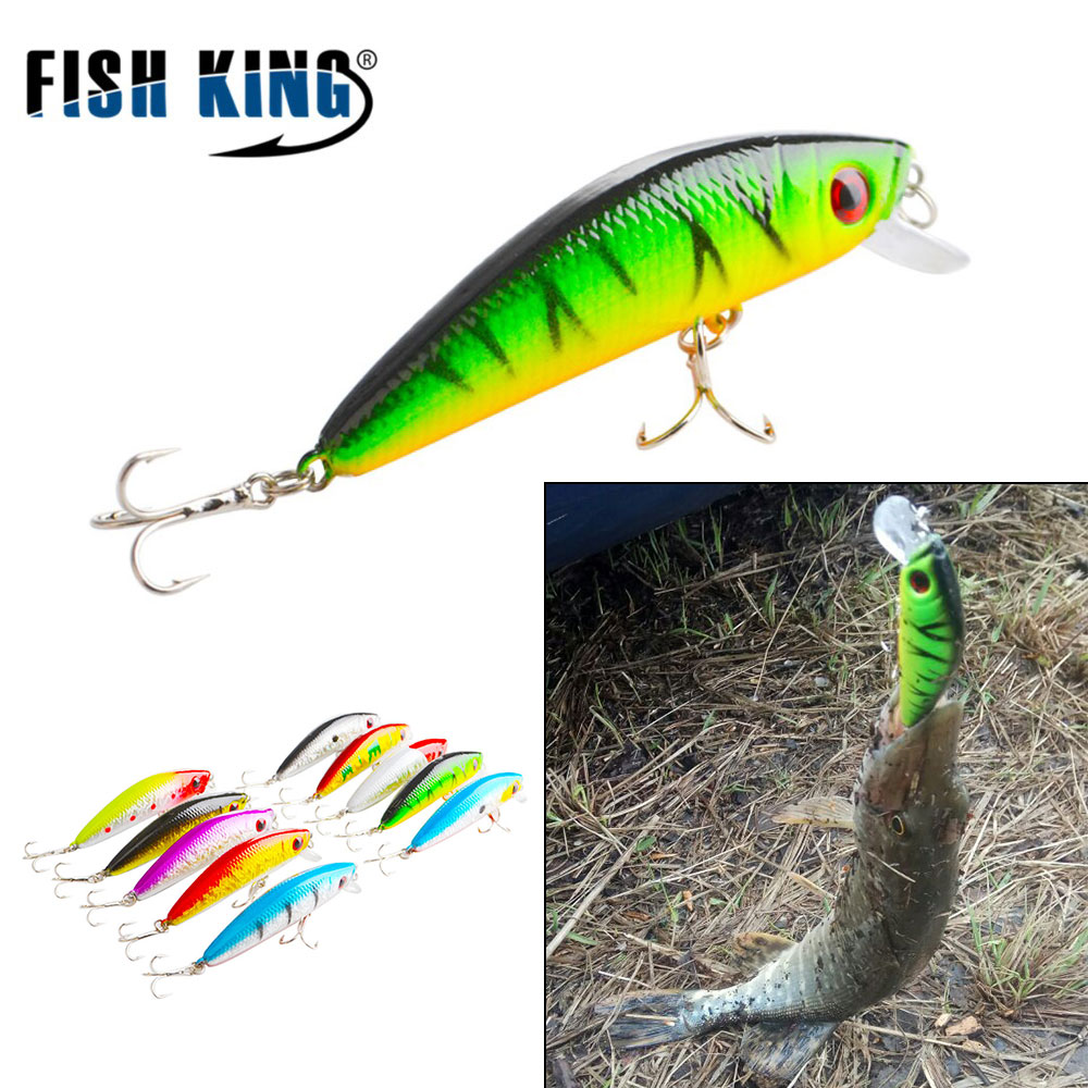 FISH KING fishing lure 70MM/7.7G Suspend Wobbler Minnow Artificial Bait 10 colors Depth 0.6-1.2m