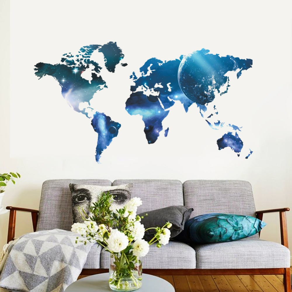New arrival big global planet world map wall sticker wall art decal new arrival big global planet world map wall sticker wall art decal map oil paintings 1470 home decoration room in wall stickers from home garden on gumiabroncs Choice Image