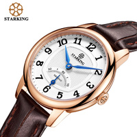 STARKING Fashion Women Golden Leather WristWatch Luxury Brand Ladies Geneva Quartz Watches Clock Montres Femme 2016 Female BL908