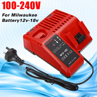 110v 240v Dual Charging Battery Multi Bay Charger For Milwaukee 12 18V Multi Voltage Lithium Battery Charger
