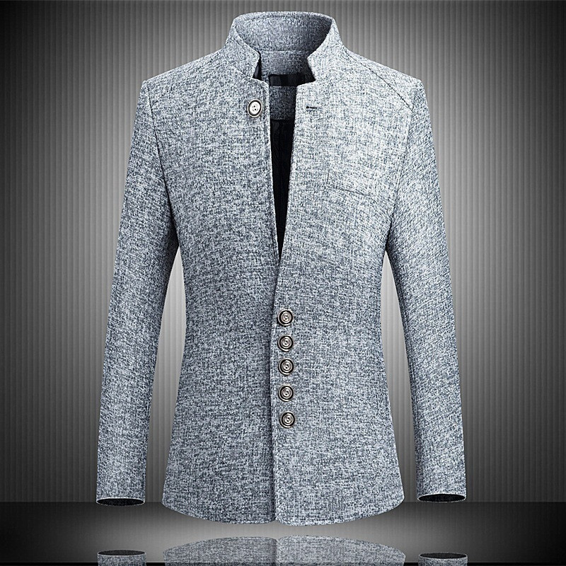 fc3103ac6c Sale! Home / Men / Men Clothing / Men Coats and Jackets / Men Blazers /  LITTHING Blazer Men 2019 Spring Chinese style Business Casual Stand Collar  Male ...
