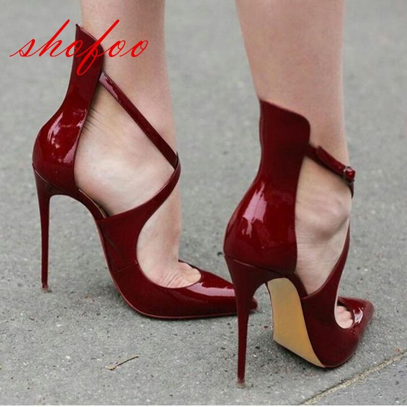 Femmes Pompes De Tissu 2017 Cuir Cm Pointu Bout Femmes Rouge Hauts Shofoo Talons 11 Chaussures En Livraison Chaussures À Sont Gratuite qWg6Ua