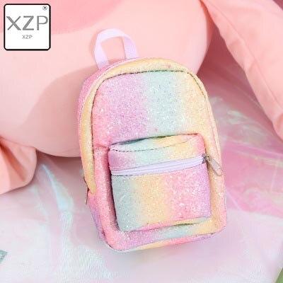 XZP мини кошелек на запястье для монет, рюкзак для женщин, блестящий маленький рюкзак с блестками, кошелек, дизайнерский рюкзак для девочек, милый Рюкзак Kawaii - Цвет: Style 3