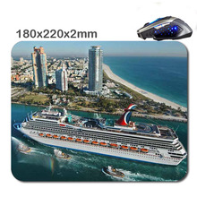 DIY 3D Fast Print International Cruise Mouse Pad Size 180 X220x2mm Custom Rubber Gaming Laptop Computer Mouse Pad As Gift
