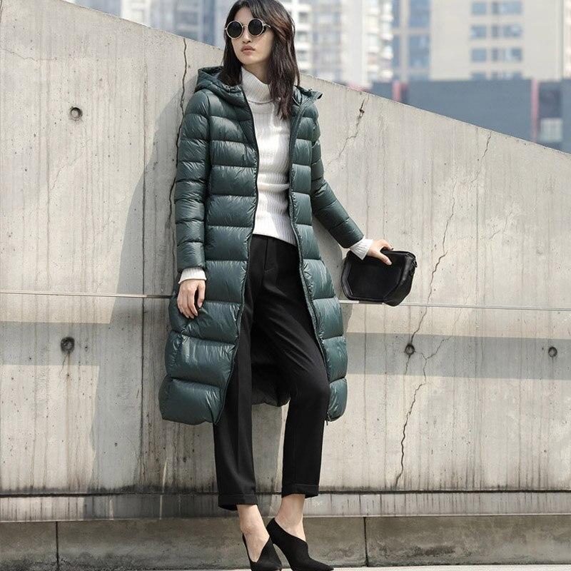 Femmes Léger Coat Coat Coat Hiver Parkas Solide grey white Down Long orange Coat Coat Manteau 90Blanc Hoodies green Canard Black Coat Veste Coat Amii Femme Plus Manteaux 2018 blue burgundy Taille FK1lcJ