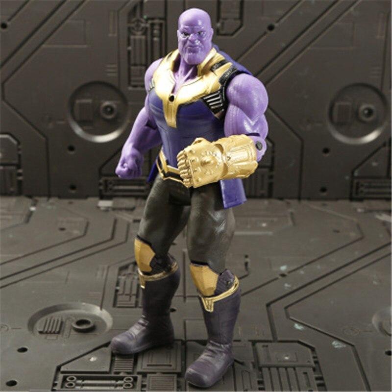 Marvel Мстители 3 Бесконечность войны фильм Аниме Супер Герои Капитан Америка, железный человек, Халк Тор супергерой Фигурки игрушки - Цвет: Thanos