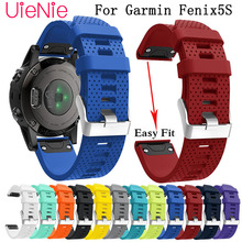 New 20mm Silicagel Soft Band Strap Watchband Bracelet Wrist for Garmin Fenix 5S Watch Replacement Silicone watchband