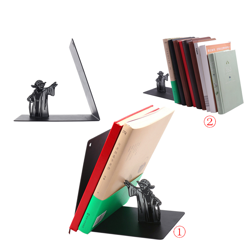 Book Ends Star Wars Yoda Stainless Steel Bookrack Bookshelf Bookends Book Holders Gifts