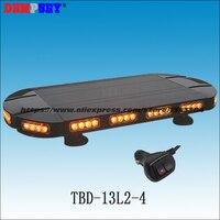TBD 13L2 4 Super Bright Amber LED Mini Lightbar Grille Warning Light Bar For Firefighting,27 Inche,bracket magnet cigarette plug