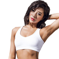 Sports Bra Women Push Up Backless Fitness Workout Clothes Black White Orange Bandages Sport Yoga Top