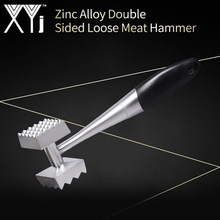 XYj Aluminium Metal Hammer Meat Mallet Tenderizer Steak Beef Pork Chicken Hammer Stainless Steel Kitchen Cooking Accessories(China)
