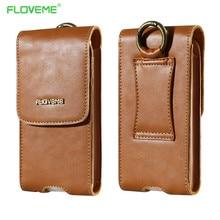 Floveme Пояса из натуральной кожи телефон сумка кошелек бумажник чехол для Samsung Galaxy S7Edge S6 края для iPhone 7 7 плюс 6 6 s 5S Универсальный