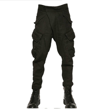HOT ! Spring off the streets of Europe and the United States Haren crotch pants men Korean youth cotton casual pants cross tide  цены онлайн