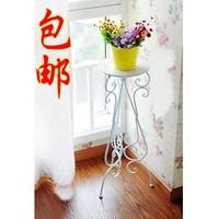 Fashion iron flower stand flower pot holder balcony floor vintage single tier flower pot holder
