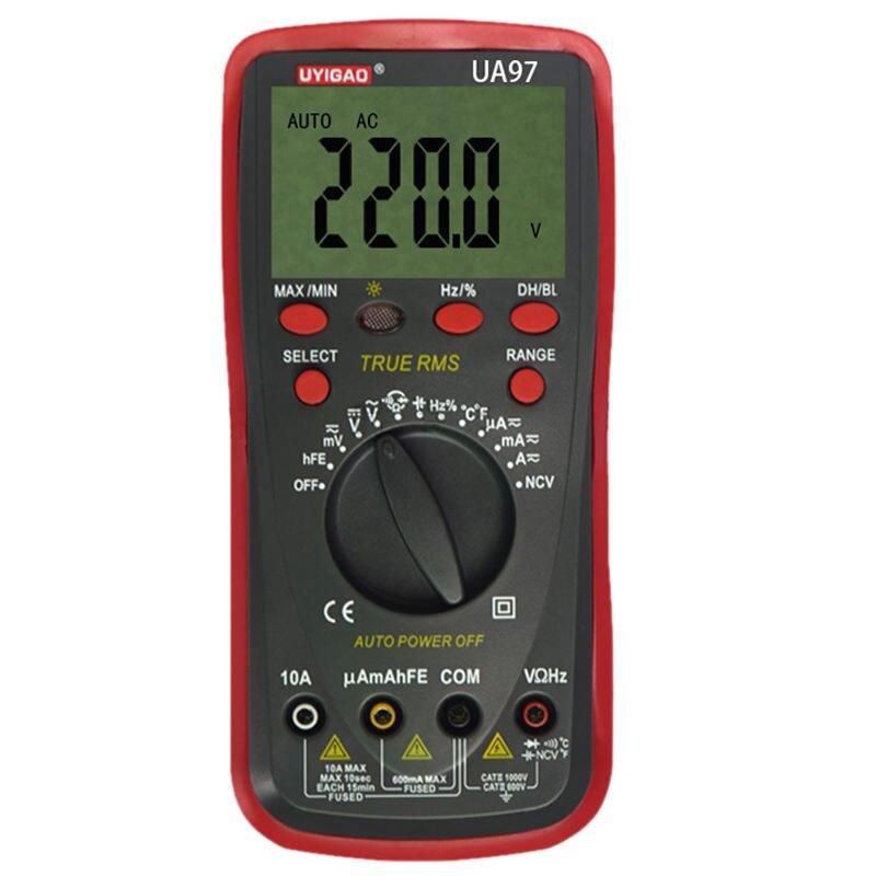 UA97 Plastic Shell Ohmmeter AC DC Testing Digital Multimeter use pp ua тв онлайн