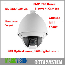 Multi-language HIK PTZ Speed Dome Camera DS-2DE4220-AE With 16X Digital Zoom ICR Day Night PTZ Dome Camera