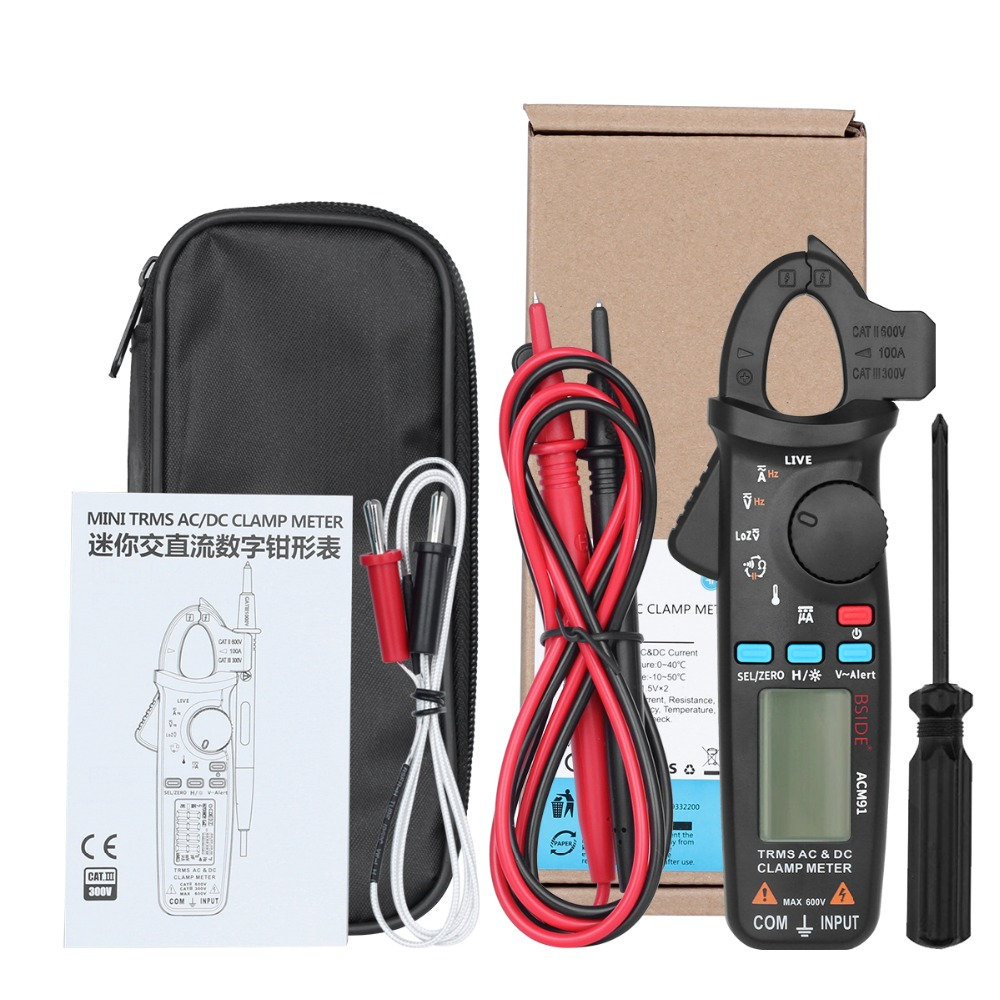 Mini Digital AC/DC Current Clamp Meter With True RMS Measurement And Auto Range Feature For Car Repair 20