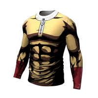 Um soco homem camiseta 2018 design legal anime men t camisa saitama sensei t camisa 3d impresso casual manga curta t