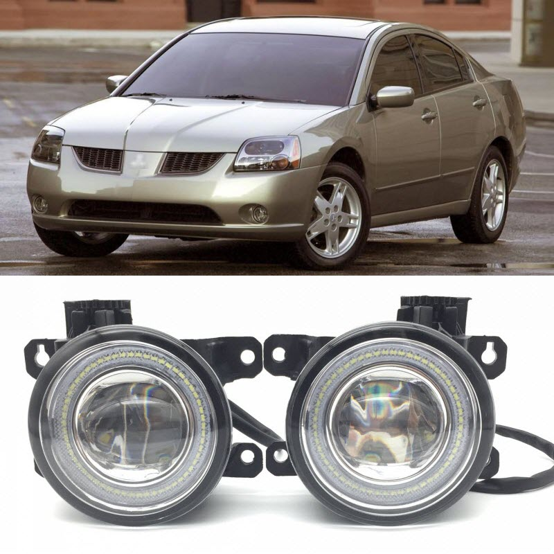 For Mitsubishi Galant 2006-2012 2 in 1 LED Angel Eyes DRL Daytime Running Lights Cut-Line Lens Fog Lights Car-Styling for subaru outback 2010 2011 2012 car styling bumper angel eyes led fog lamps drl daytime running fog lights ocb lens
