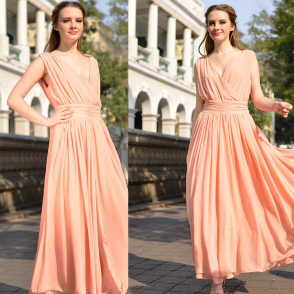 NEW 2016 Big European Yards Long Chiffon Dress Bohemian Dress Prom ...