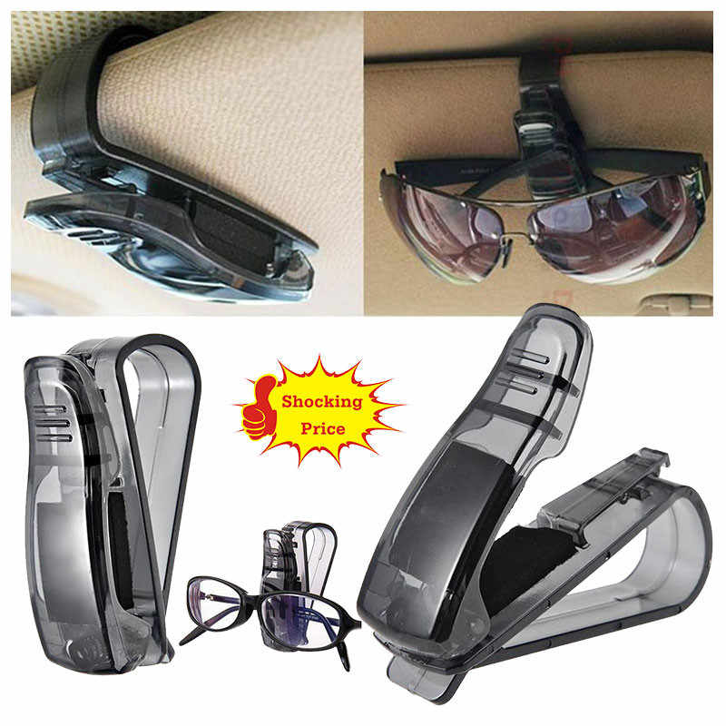 Car Sun Visor Glasses Sunglasses Ticket Receipt Card Clip Storage Holder Automobile/home Interior Accessories #615