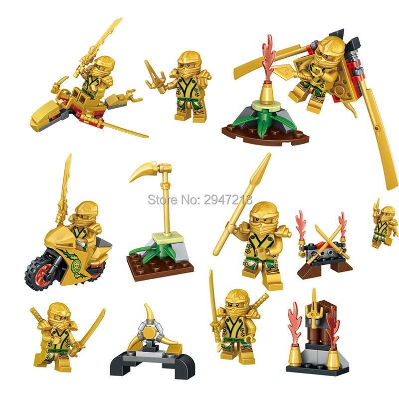 2017 HOT Compatibile LegoINGlys NinjagoINGlys Set NINJA Heroes Kai Jay Cole Zane Nya Lloyd Building blocks Toys for children