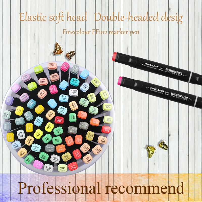 Image 4 - Finecolour EF102 Double Headed Soft Brush Alcohol Based Ink Marker Professional Sketch Painting Art Markers Pen-in Art Markers from Office & School Supplies