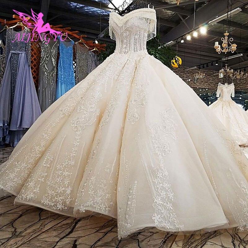 Image 2 - AIJINGYU Luxury Wedding Dress Ball Gown Lace Boho Romantic Angel Inexpensive Gowns Near Me New Wedding DressesWedding Dresses   -