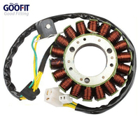 GOOFIT 18 Poles Coils Magneto Stator Coil for GY6 250cc Water Cooled Engine K079 037