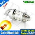 1 pcs T20 W21W 7440 WY21W LED Reserva De Segurança do carro auto Luz luz de freio Sinais de Volta para trás luz de nevoeiro amarelo âmbar 12 V 24 V