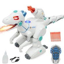 Simulation Animal Model Electric Dinosaur Toy Multi-function Rechargeable Spray Remote Control Dinosaur Children's Puzzle недорого