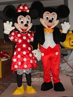 Hot Sale Red Minnie And Mic Key MouseMascot Costume Adult Size Fancy Dress Holloween Costume