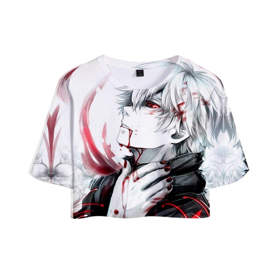 New T-shirt 3D Print  tokyo ghoul Summer Casual Tops Women Clothes Harajuku Hip Hop Short Sleeve Plus Size 4XL