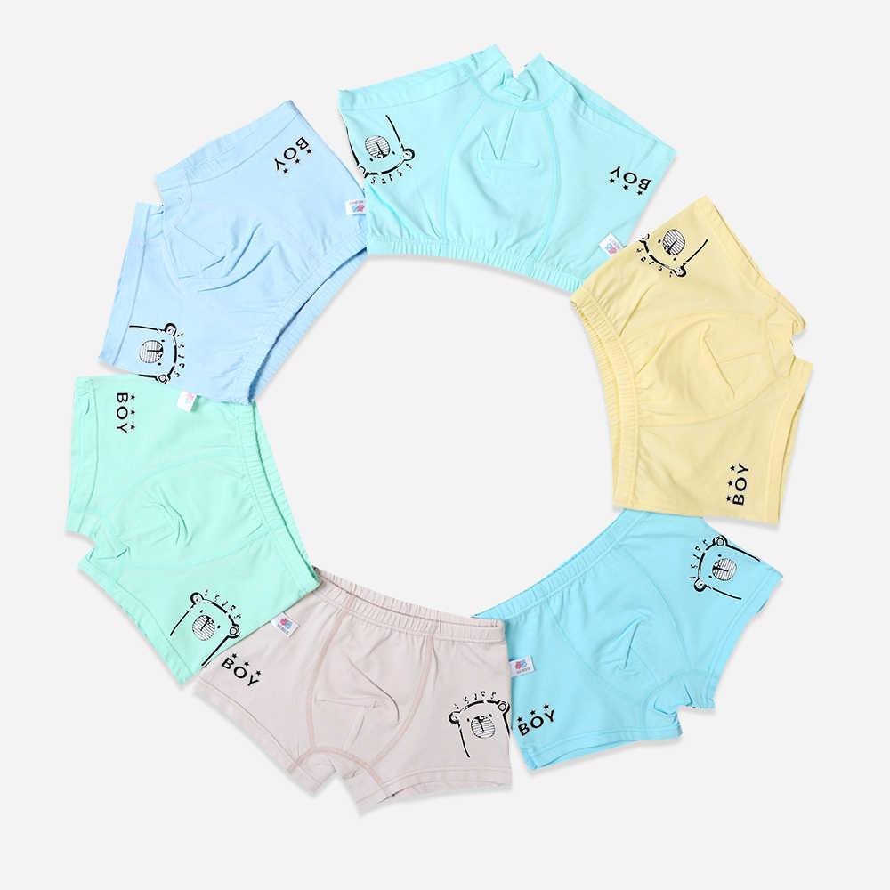 Нижнее белье для мальчиков 6 шт./лот хлопковые трусы  мягкие дышащие детские трусы-боксеры детская одежда трусы От 2 до 7 лет