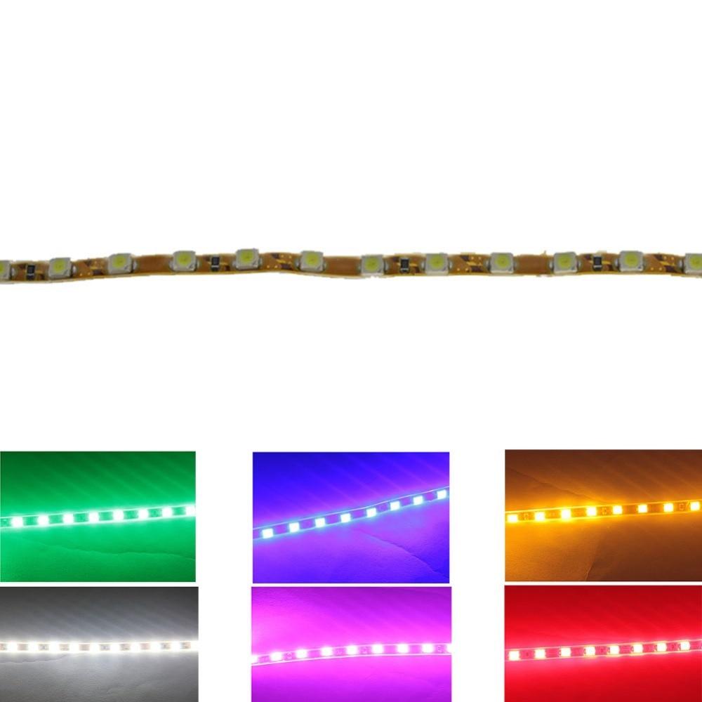 1 шт. супер свет 45 см 45 светодиодный 2835 SMD гибкие полосы водонепроницаемый автомобиля бровь и сложил лампы белый желтый зеленый синий красный розовый