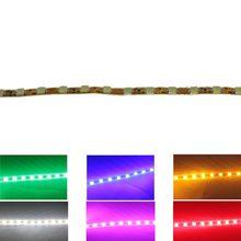 1 pçs super luz 45 cm 45 led 2835 smd tira de sobrancelha carro flexível à prova dwaterproof água e dobrado lâmpada branco amarelo verde azul vermelho rosa