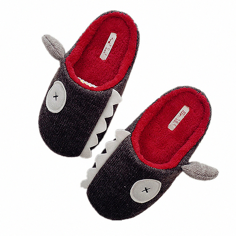 New Cute Cartoon Cotton House Slippers Women Winter Indoor Warm Plush Slipper Lovely Fun Cyclops Shark Home Shoes Woman chinelos 3d minions slippers woman winter warm slippers despicable minion stewart figure shoes plush toy home slipper one size doll