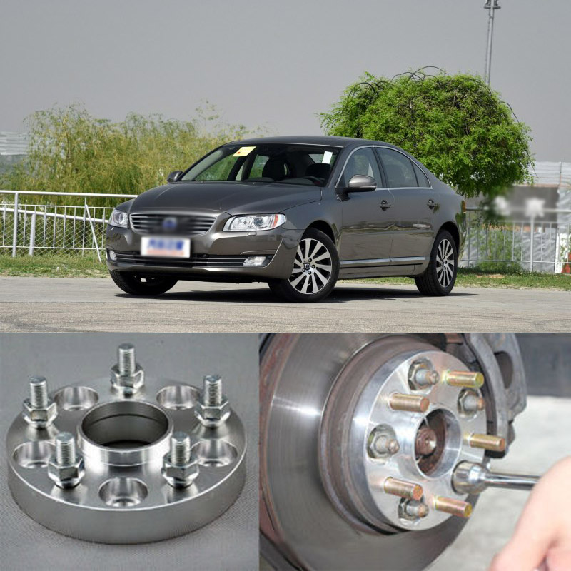 Teeze 4pcs Billet 5 Lug 14*1.5 Studs Wheel Spacers Adapters For Volvo S60 2011+/S80 2006+/S80L 2008+/V60 2012+/XC60 2008+ 2 pieces of specialized in the production of wheel adapters wheel spacers 4 x100 suitable for toyota corolla vios and yaris