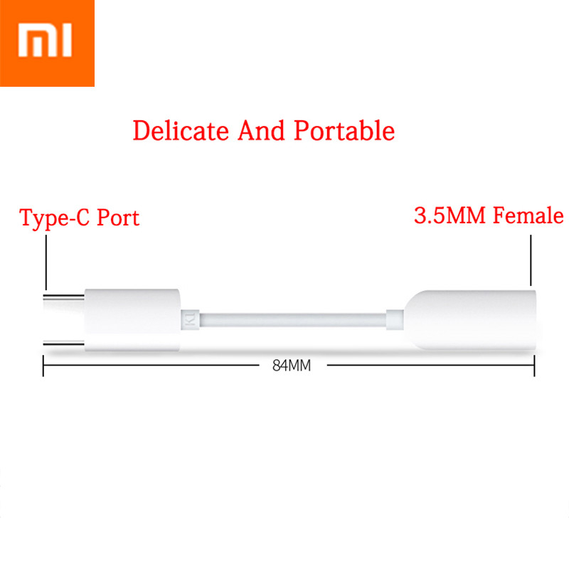 Image 3 - Original Xiaomi Earphone Adapter USB3.1 Type C To 3.5mm Female Cable Music Headphone Connector Converter MI 9 6 6X 8 8SE Note 3-in Mobile Phone Cables from Cellphones & Telecommunications