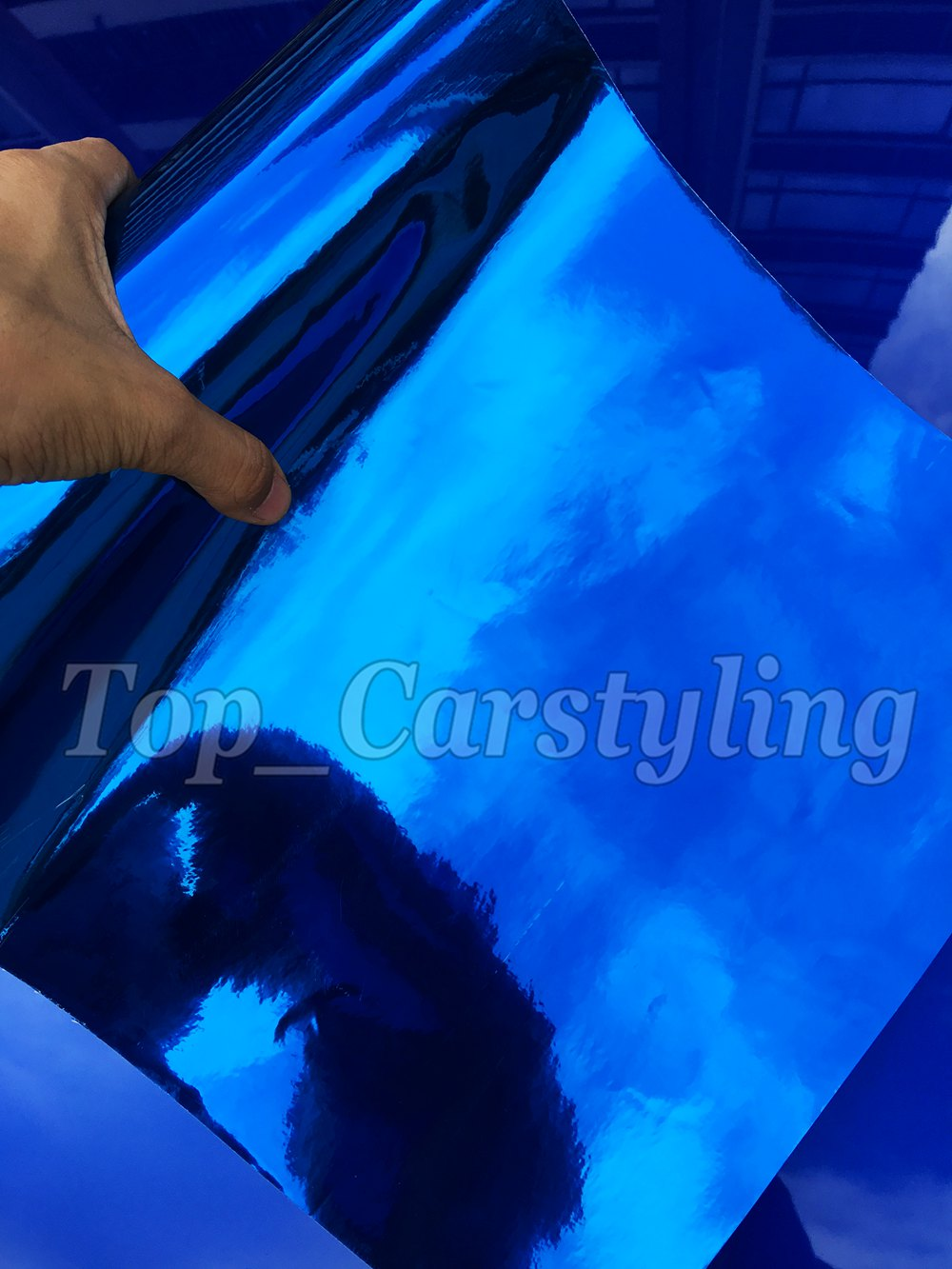 chrome blue mirror stm hexis car wrapping film high stretchable flexible (9)