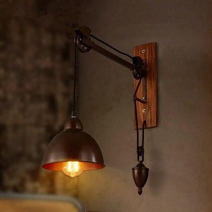Amerikaanse Vintage Katrol Muur Lampen Woonkamer Studie Naast ...
