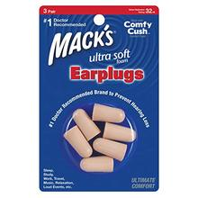 Mack's 3 pairs foam earplugs ultra Champagne color noise reduction ultra noise blocker  32db